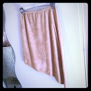 Tan Velour Skirt